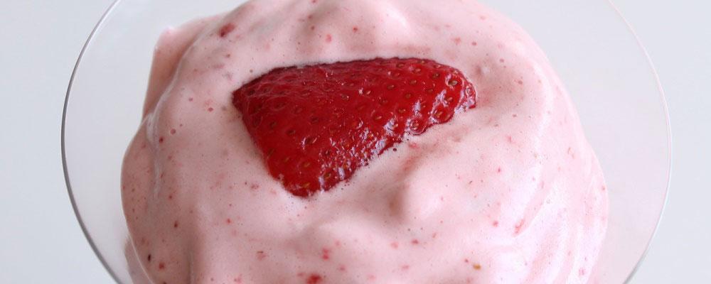 Mousse de fresa en Thermomix