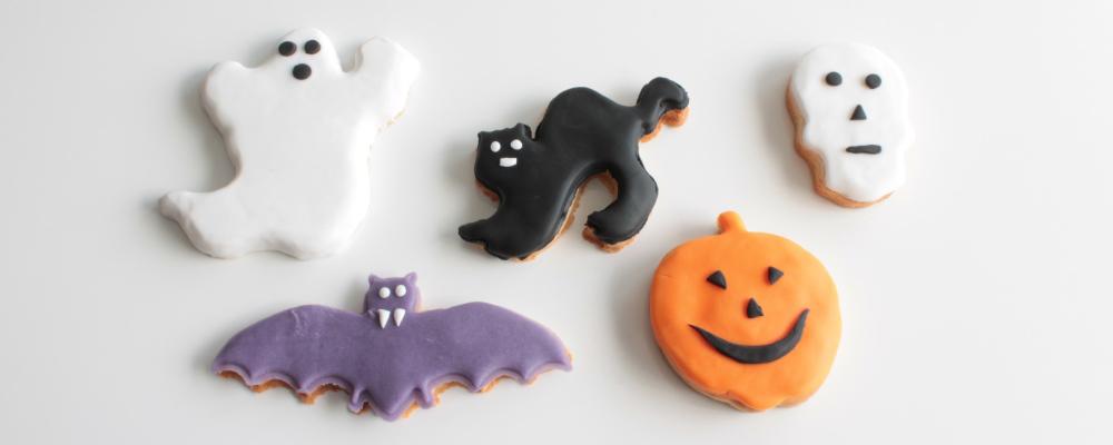 Galletas de fondant para halloween